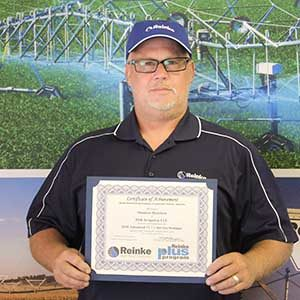 Shannon Hamilton as Service Technician with Reinke Platinum Plus Certified at DSK Irrigation in Imperial, Nebraska